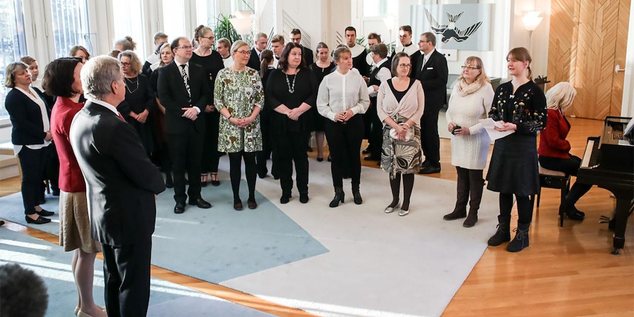 Presidenttipari ja järjestöjen edustajia