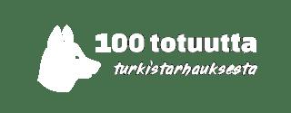 100 totuutta turkistarhauksesta -kampanjan logo, jossa on ketun pään siluetti sekä teksti 100 totuutta turkistarhauksesta